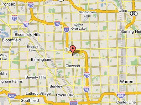 Map Of Troy Michigan Contact & Map   Family First Dental Care, John Leo D.D.S., dentist